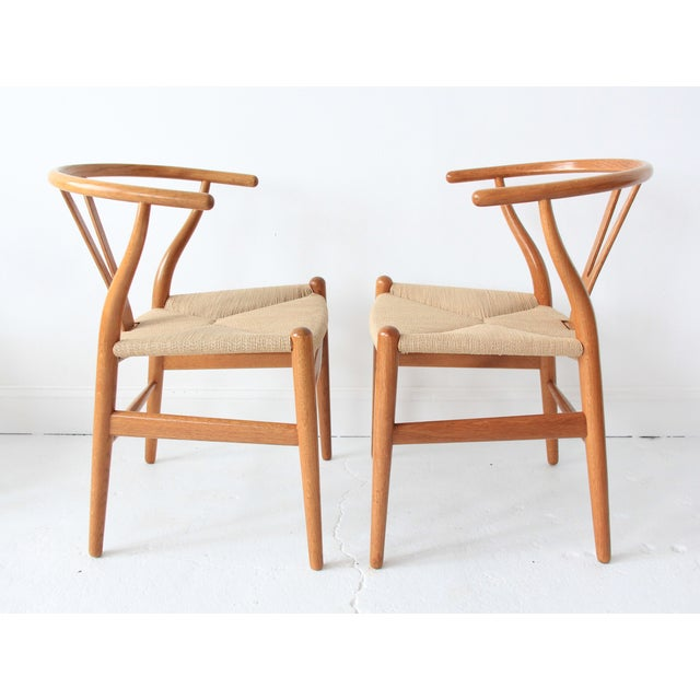 Vintage Hans Wegner Wishbone Chairs - Set of 4 - Image 4 of 10