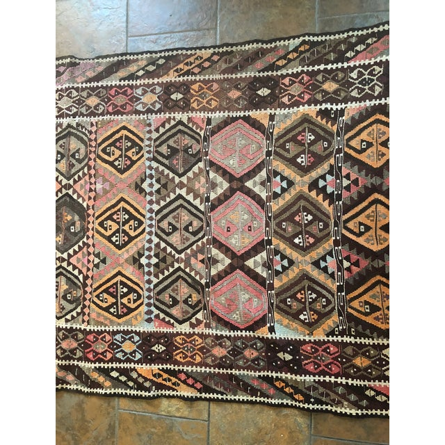 Rug & Kilim Antique Earth Tones Kilim Rug - 4′ × 9′ For Sale - Image 4 of 11