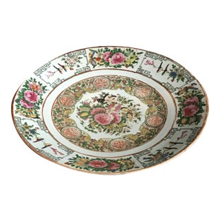 Antique Famille Rose Charger For Sale