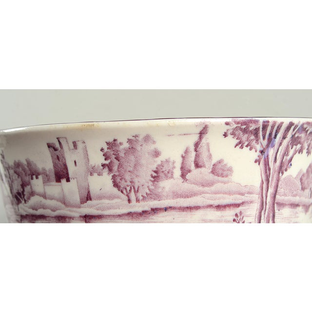 Early 20th Century Early 20th Century Wood & Sons Castles Purple Cranberry Bowl For Sale - Image 5 of 8
