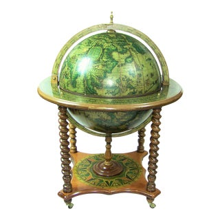 Mid Century Globe Bar Classic 1950s For Sale