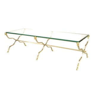 French Directoire Style '20th Cent.' Steel Coffee Table For Sale
