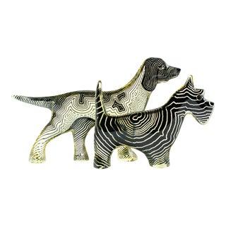 Palatnik Op Art Lucite Dog Figurines- A Pair For Sale