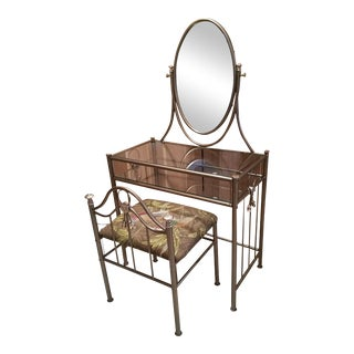 Hollywood Regency Vanity Table & Chair