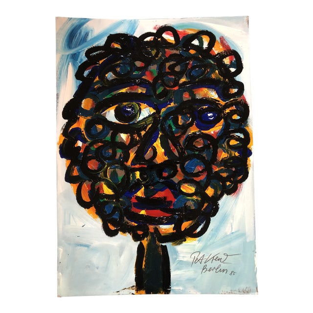 Original Vintage Peter Robert Keil Oil Painting Portrait For Sale