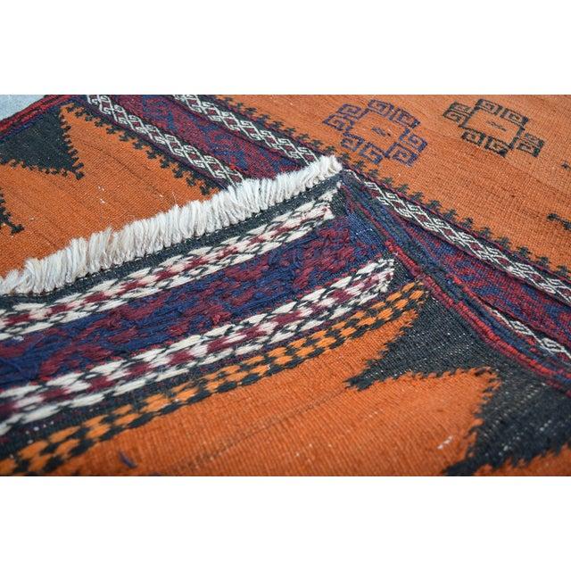 """Vintage Afghan Sumak Kilim Runner - 2' x 5'3"""" - Image 6 of 6"""