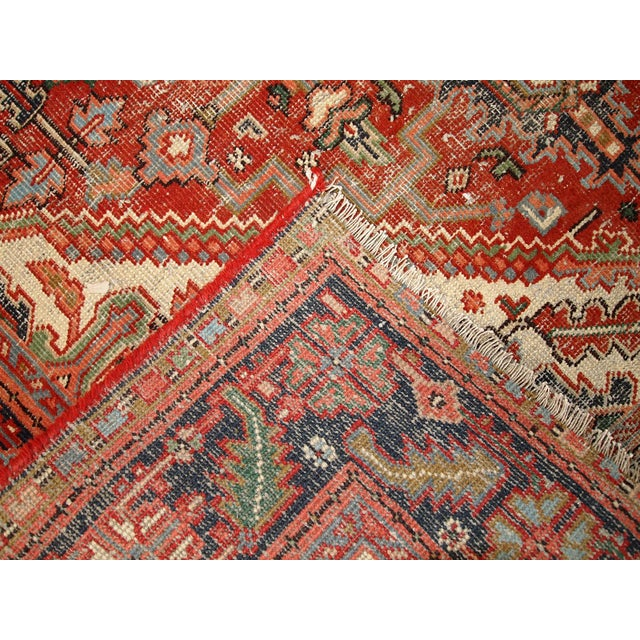 1920s Hand Made Antique Persian Heriz Rug - 5′7″ × 8′1″ - Image 2 of 10