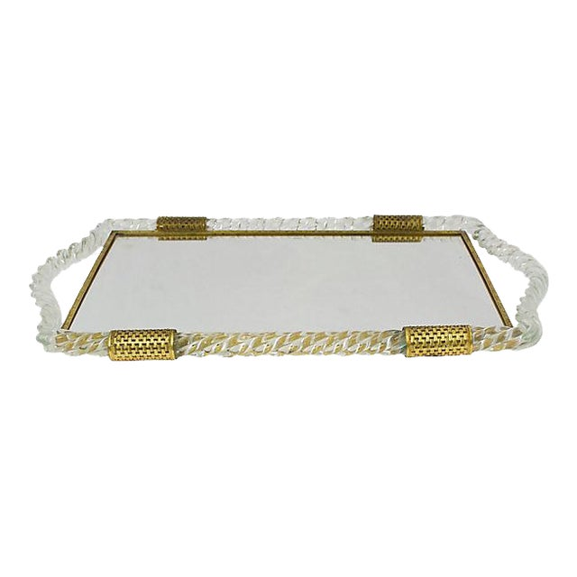 Italian Glass Vanity Tray - Image 1 of 6