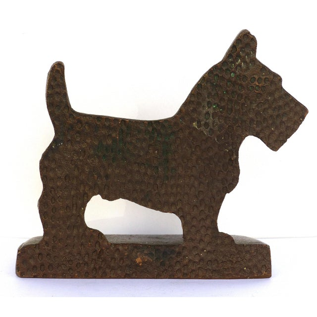 """Mid 20th Century Vintage Cast Iron """"Scottie"""" Dog Bookends, a Pair For Sale - Image 5 of 6"""