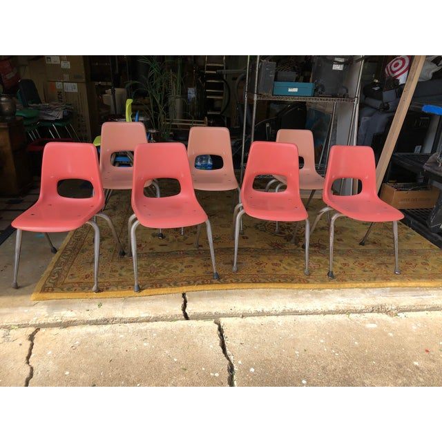 Vintage Mid Century Fiberglass Chairs- Set of 7 For Sale - Image 10 of 10