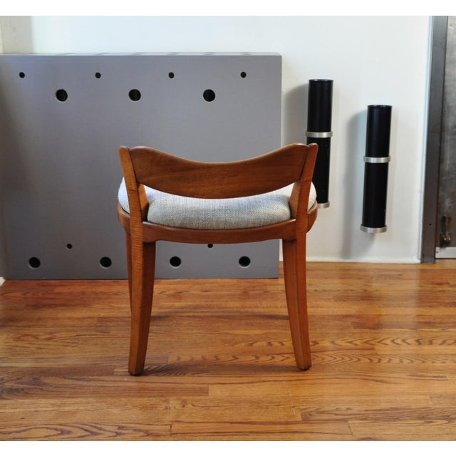 Pair of Low Back Stool, Switzerland Circa 1940 For Sale In New York - Image 6 of 7