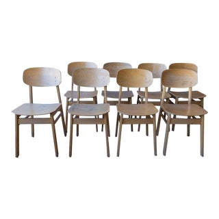 Vintage Italian School Chairs- Set of 8 For Sale