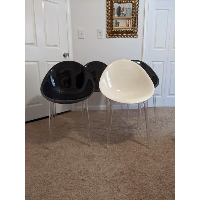Philippe Stark for Kartell Mr Impossible Chairs - Set of 4 For Sale - Image 10 of 10