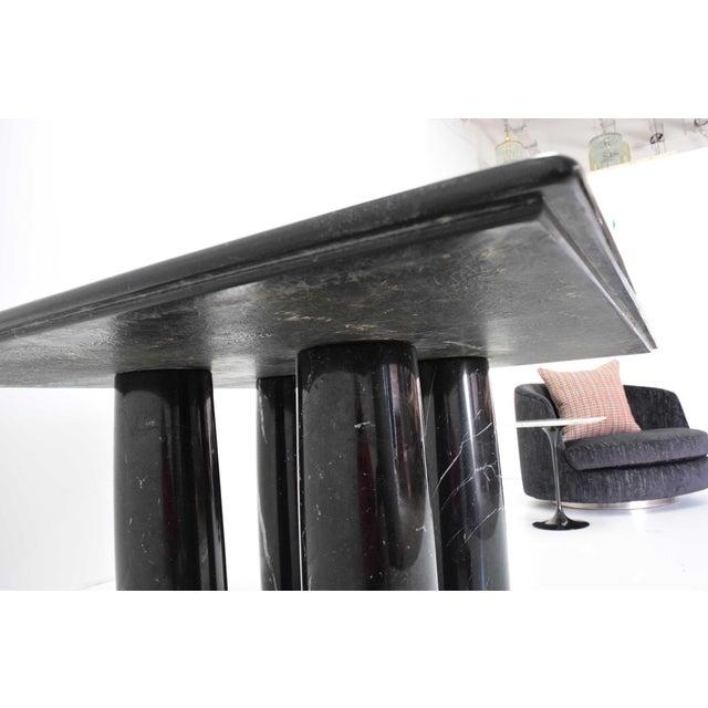 Black Mario Bellini Il Colonnato Black Marble Table For Sale - Image 8 of 13