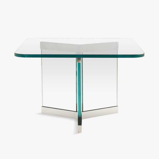 Tri-Base Glass Cocktail Table by Leon Rosen for Pace For Sale - Image 5 of 5