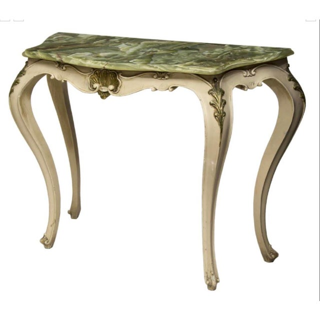 Italian Vintage Italian Onyx Top Console Table For Sale - Image 3 of 3
