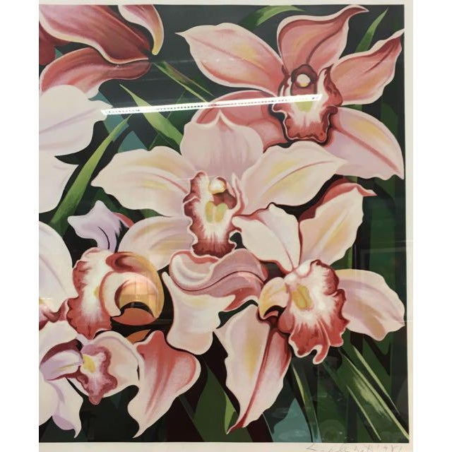 "1980s 1981 Serigraph ""Cattleya Orchids"" by Lowell Nesbitt For Sale - Image 5 of 7"