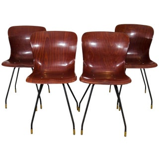 1960s Vintage Pagholz Model #1507 Chairs - Set of 4 For Sale