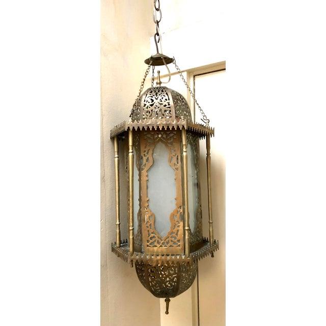 Moroccan Moorish Hanging Lantern For Sale In San Francisco - Image 6 of 6