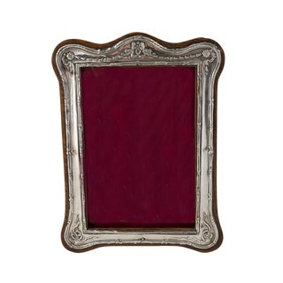 1900s Antique Birmingham Sterling Silver Picture Frame For Sale