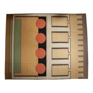 """Vintage Contemporary Kilim Carpet - 12'1"""" X 15' For Sale"""