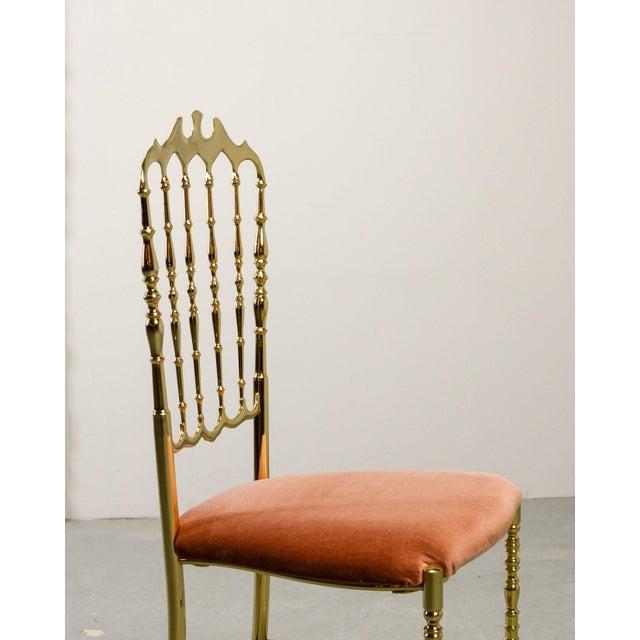 Mid-Century Italian Design Side Chair by Giuseppe Gaetano Descalzi for Chiavari, Italy, 1950s For Sale - Image 9 of 11