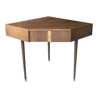 1970s Mid Century Kroehler Corner Walnut Writing Desk