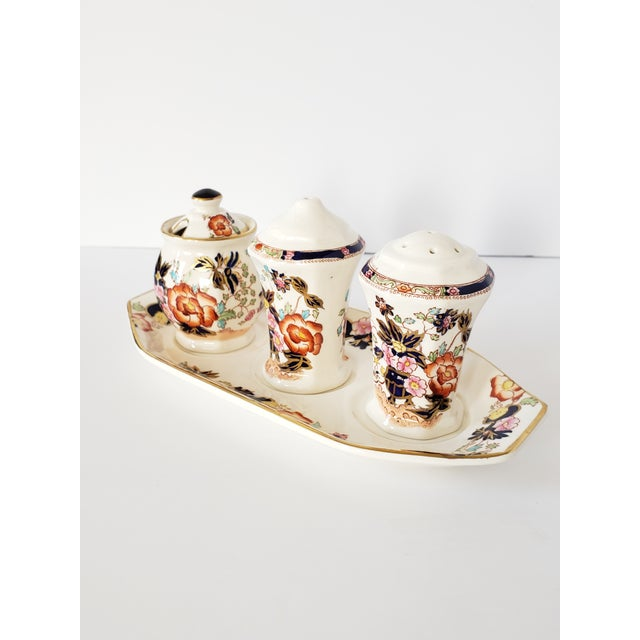 "Asian Mason's Ironstone ""Mandarin"" Condiments Set For Sale - Image 3 of 13"
