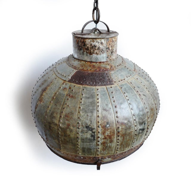 Industrial Industrial Rivet Iron Lantern For Sale - Image 3 of 6