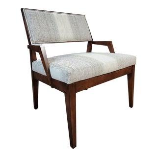 Henredon Furniture Venue Walnut Mid-Century Modern Dining Arm Chair For Sale