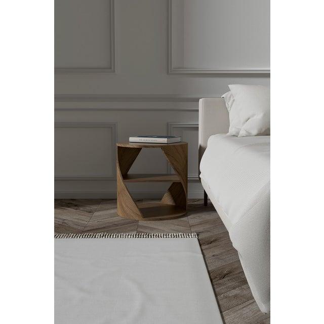 Mydna Walnut Decorative Side Table by Joel Escalona For Sale - Image 4 of 6