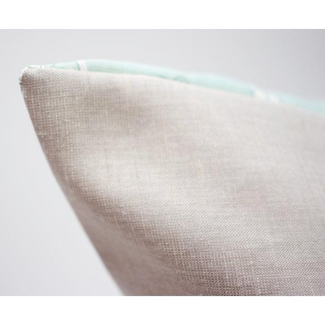 """Isobel """"60 Oaks"""" 25"""" Square Belgian Linen Pillow For Sale - Image 4 of 6"""