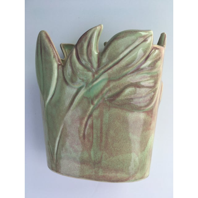 Ceramic Floral Vase by West Coast Pottery California For Sale - Image 7 of 10