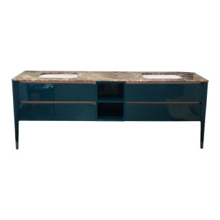 Modern Puntotre Italian Art Vanity For Sale