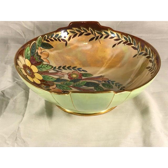 1940s Vintage Royal Winton Grimwades Footed Trinket Dish For Sale - Image 5 of 11