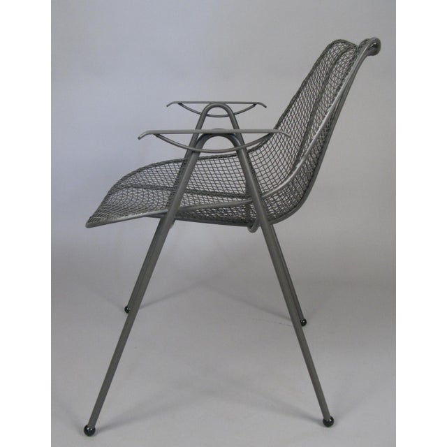 1950's Woodard Sculptura Patio Dining Chairs - Set of 6 For Sale - Image 10 of 12