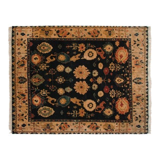 "Vintage Tea Washed Indian Azeri Design Carpet - 7'11"" X 10' For Sale"
