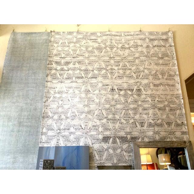 Modern Geometric Floral Area Rug - 7′9″ × 9′9″ - Image 3 of 4