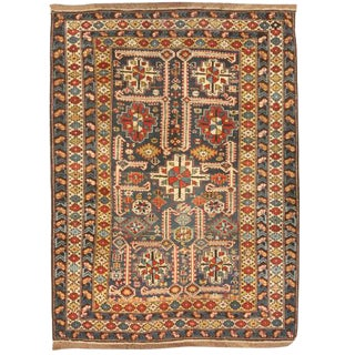 Antique 19th Century Caucasian Kuba Rug For Sale