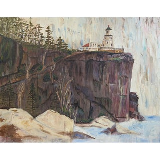 Modernist Lighthouse Painting For Sale