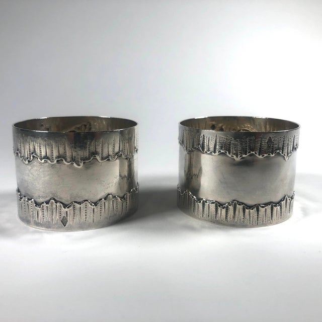 Rococo 19th Century French Henri Sufflot Minerva Silver Napkin Rings - a Pair For Sale - Image 3 of 7