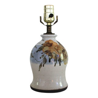 Vintage Pottery Table Lamp For Sale