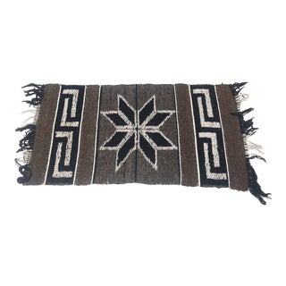 Vintage Wool Throw Rug -Native American Style For Sale