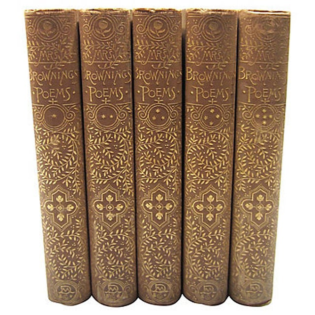 Elizabeth Barrett Browning Poetry - 5 Volumes - Image 7 of 7