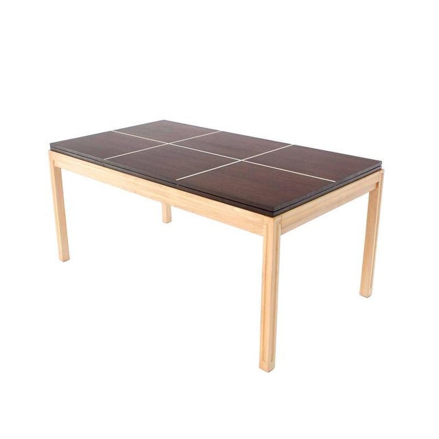 Wood Tommy Parzinger Dining Table with Two Leaves For Sale - Image 7 of 9