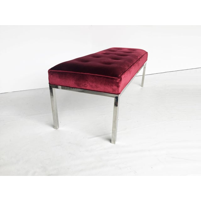 Knoll Florence Knoll Tufted Bench For Sale - Image 4 of 7