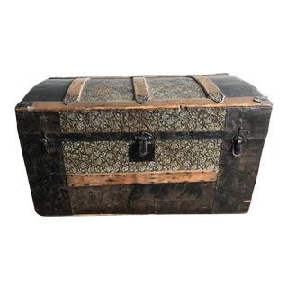 19th Century Antique English Steamer Trunk For Sale