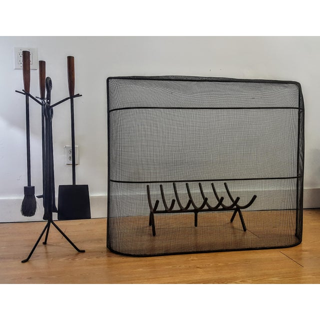 George Nelson and Associates Fireplace Set. Set includes 4 Fireplace Tools, Poker, Hearth Broom, Shovel, Tongs, and Tripod...