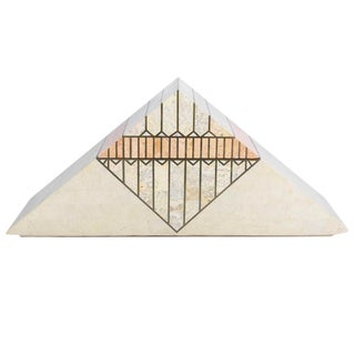 1980s A Casa Bique Designed Tessellated Stone Pyramid Box For Sale