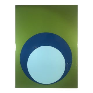 Green & Blue Ultra Glossy Double Dot Painting